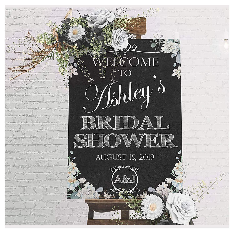 Printable chalkboard poster Floral bridal welcome sign Welcome Bridal Shower Sign Chalkboard bridal sign Chalkboard Welcome sign