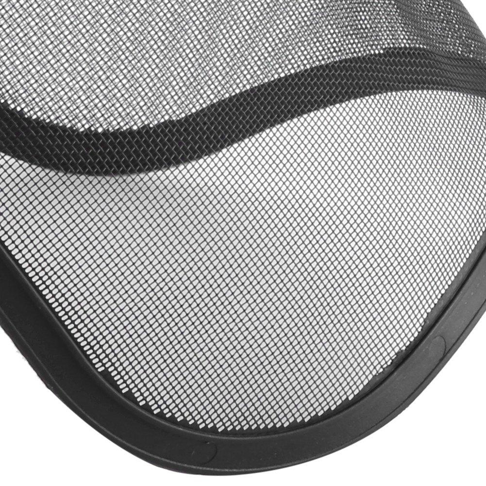 ViaGasaFamido Casco de Registro Protecci/ón Facial Completa M/áscara de Seguridad Visor de Malla Ajustable para Motosierra Jardiner/ía Recorte Brocha Forestal