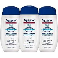 Aquaphor Baby Wash and Shampoo - Mild, Tear-free 2-in-1 Solution for Baby's Sensitive Skin - 8.4 fl. oz. Bottle (Pack of…