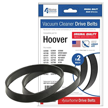 4YourHome Drive Cinturones Para Aspiradoras Hoover Turbo de potencia 2 & 3 Series – 2PK