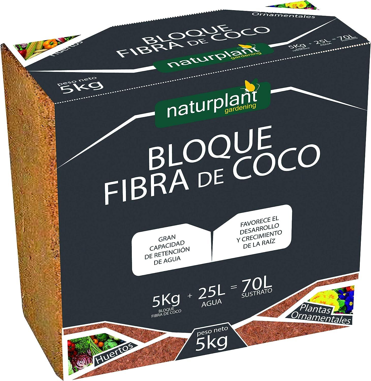 NATURPLANT SUSTRATOS ECOLOGICOS - Bloque Fibra DE Coco 5KG 70L SUSTRATO - Coco Grow (1)
