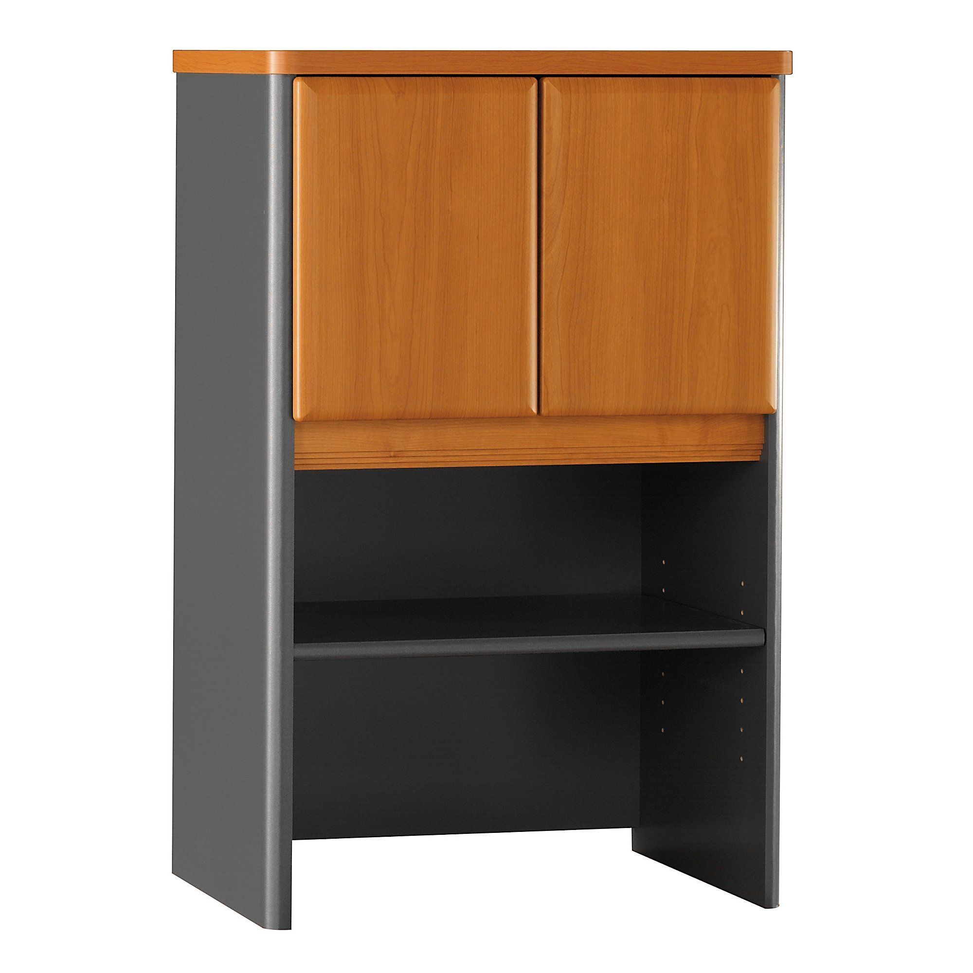 Bush Business Furniture Series A Collection 24W Hutch in Natural Cherry
