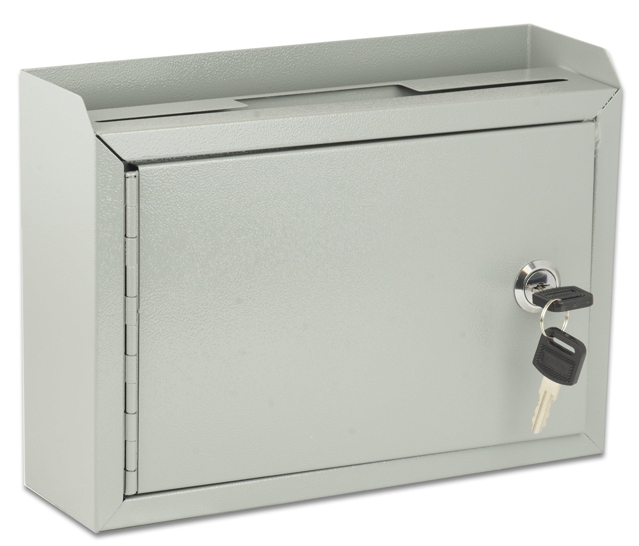 AdirOffice Multi Purpose Wall Mountable Suggestion Box, 9.75'' x 7'' x 3''