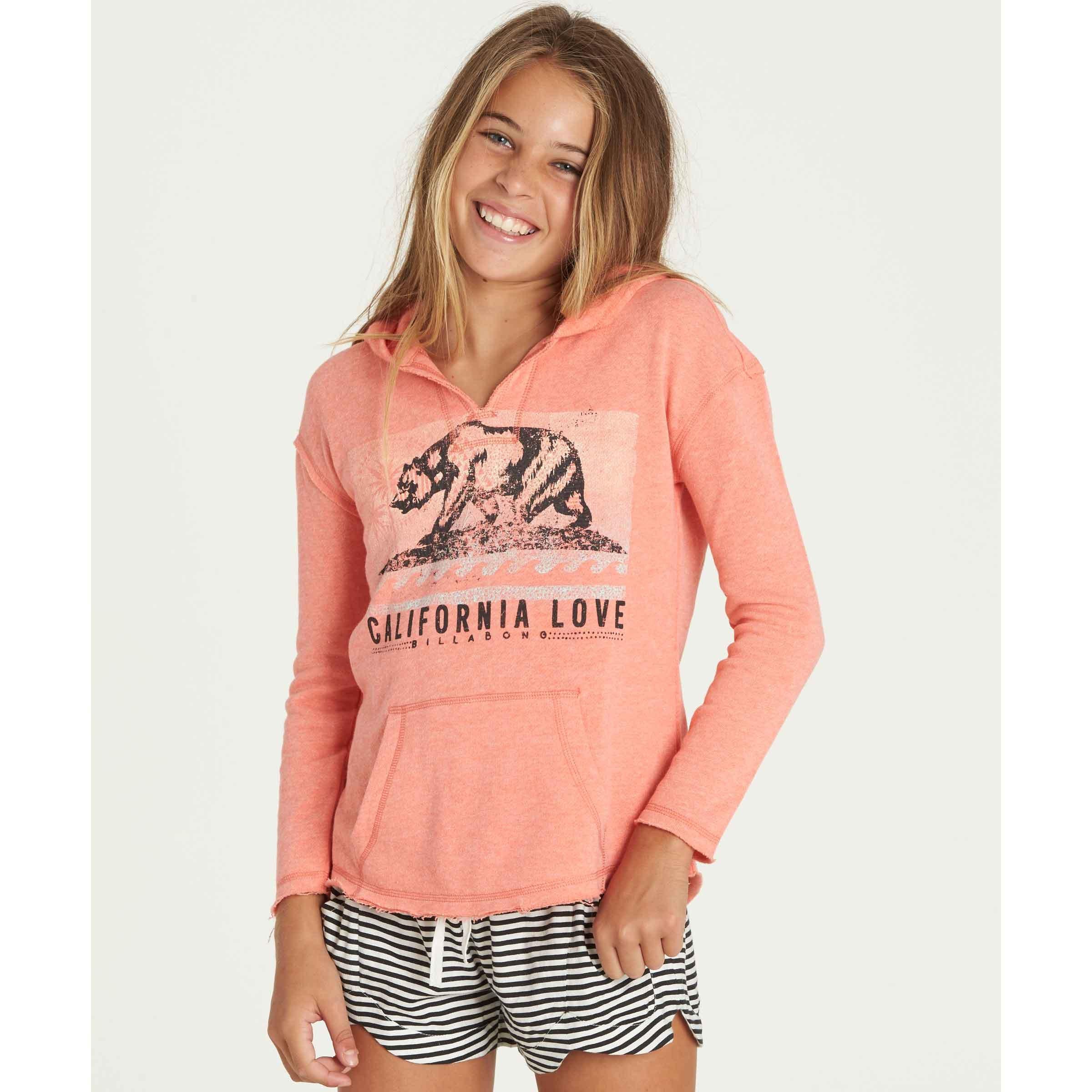 Billabong Big Girls' Days Off Hoody, Sun Kissed Coral, L