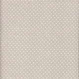 Tessuto grigio (Grigio chiaro perlato) PUNTINI | 100% puro cotone | altezza: 140 cm (1 metro), a metro / metraggio