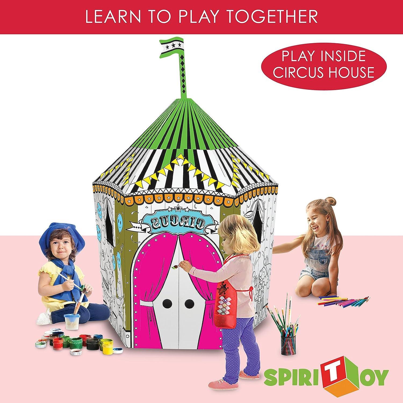 Spiritoy My Little Castle Cardboard Playhouse - Large ...