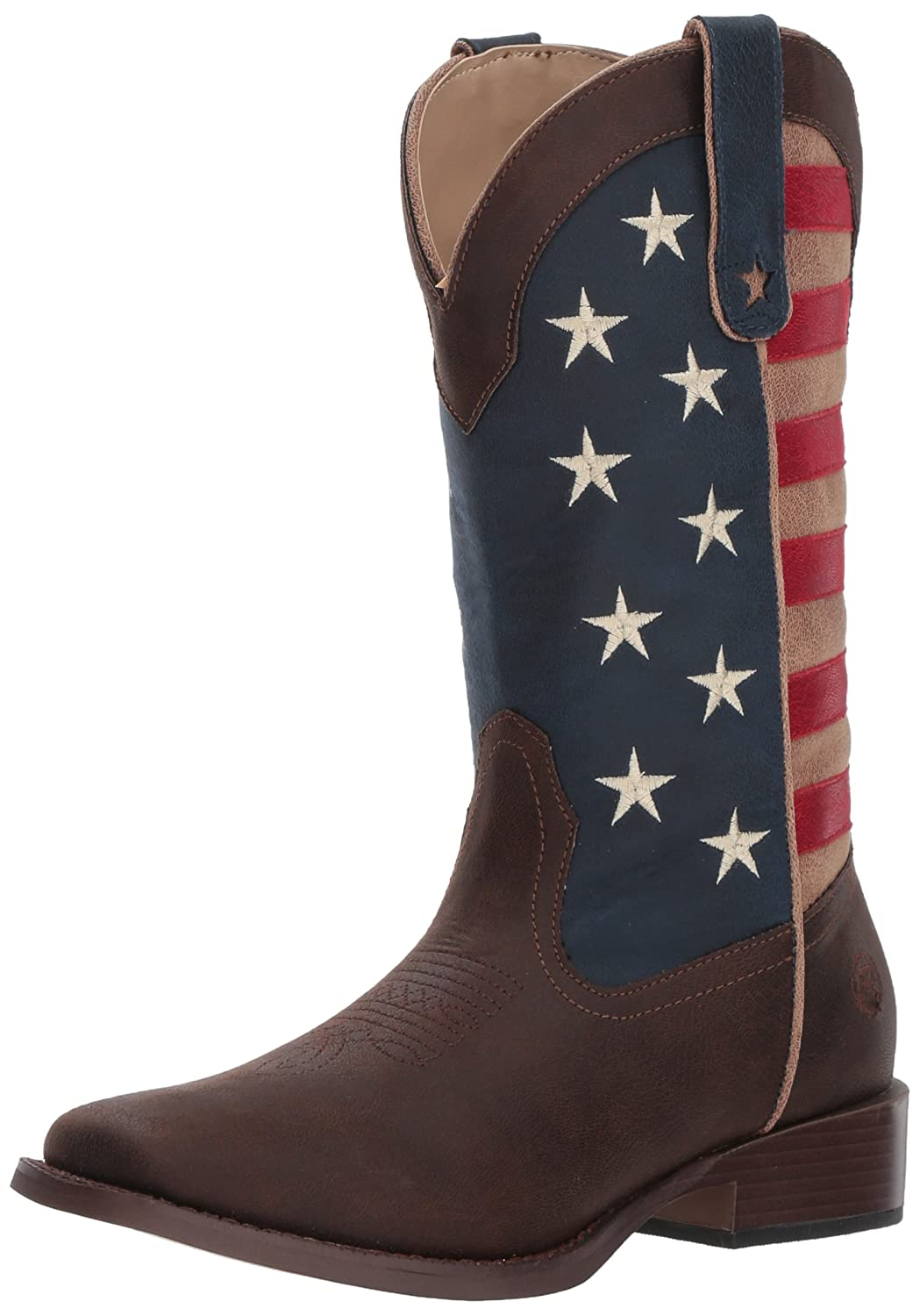 Roper Women's American Patriot Western Boot B00BPDDSQO 7.5 B(M) US|Brown