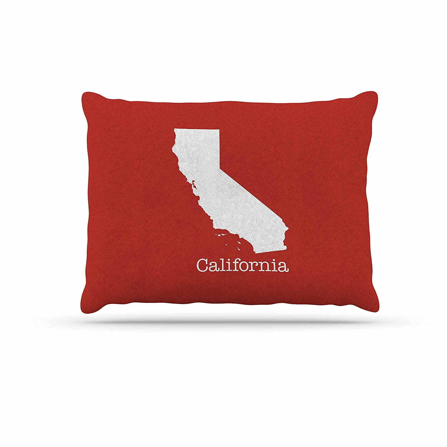 KESS InHouse Bruce Stanfield California State Flag Red White Dog Bed, 30  x 40