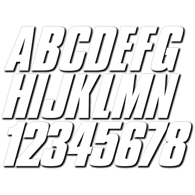 """Stiffie Shift White 3"""" ID Kit Alpha-Numeric Registration Identification Numbers Stickers Decals for Boats & Personal Watercraft: Automotive"""