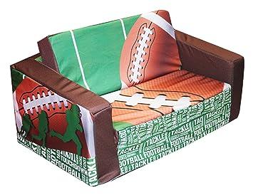 Newco Kids Football 50 Yard Line Kids Flip Sofa