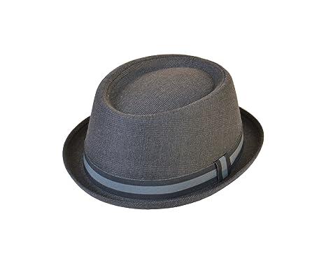 746f5c619995c Hawkins - Sombrero Pork Pie - para hombre Gris gris 57  Amazon.es  Ropa y  accesorios