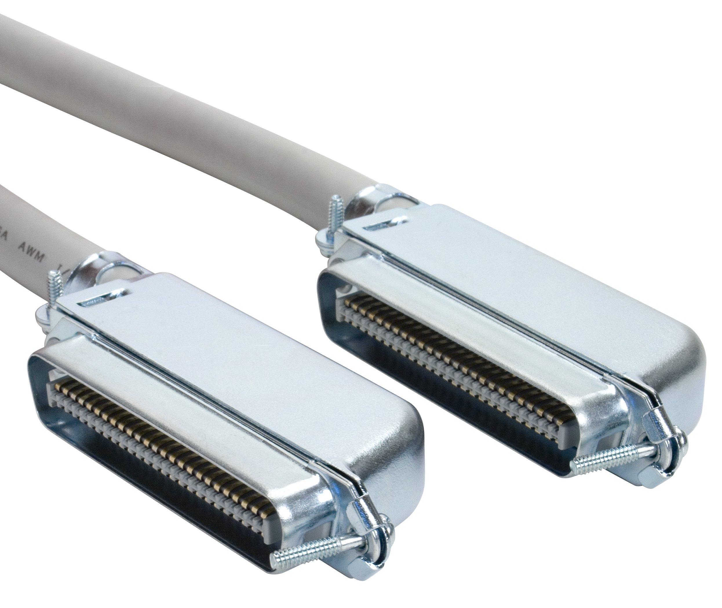 Amphenol MP-5T90MMUNNA-005 Cat3 25-Pair Telco Cable, 90 degree, 50-Pin RJ21, Male, 5', Gray