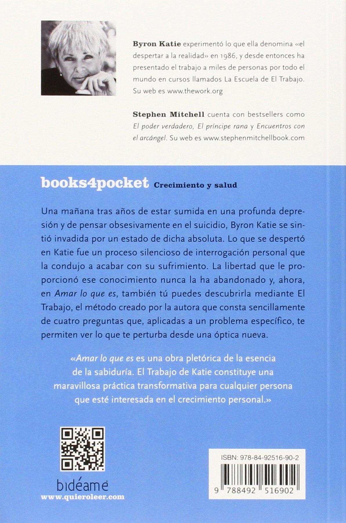 Amar lo que es (Spanish Edition): Byron Katie: 9788492516902: Amazon ...