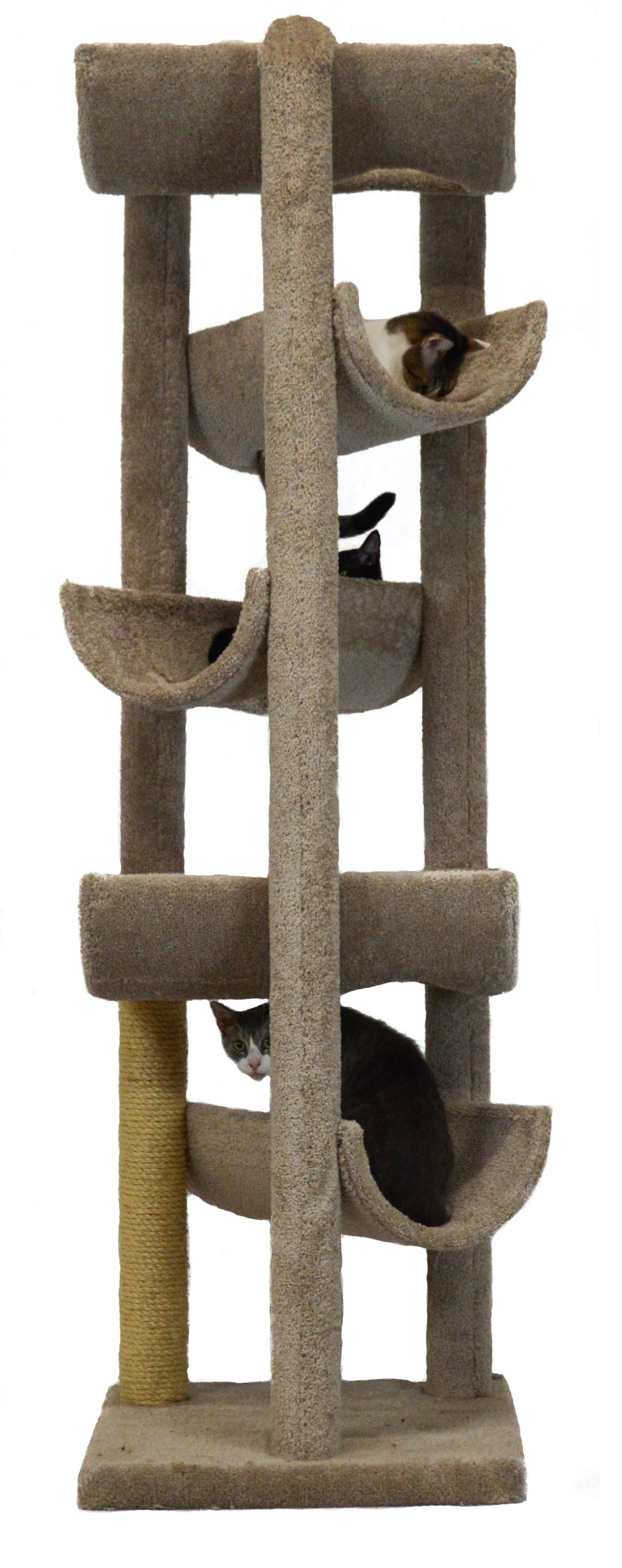 Molly and Friends Alleyway Cat Furniture, X-Large, Beige