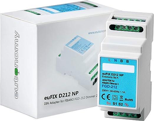 Adaptador de Módulo Fibaro para carril DIN FGD-212: Amazon.es ...