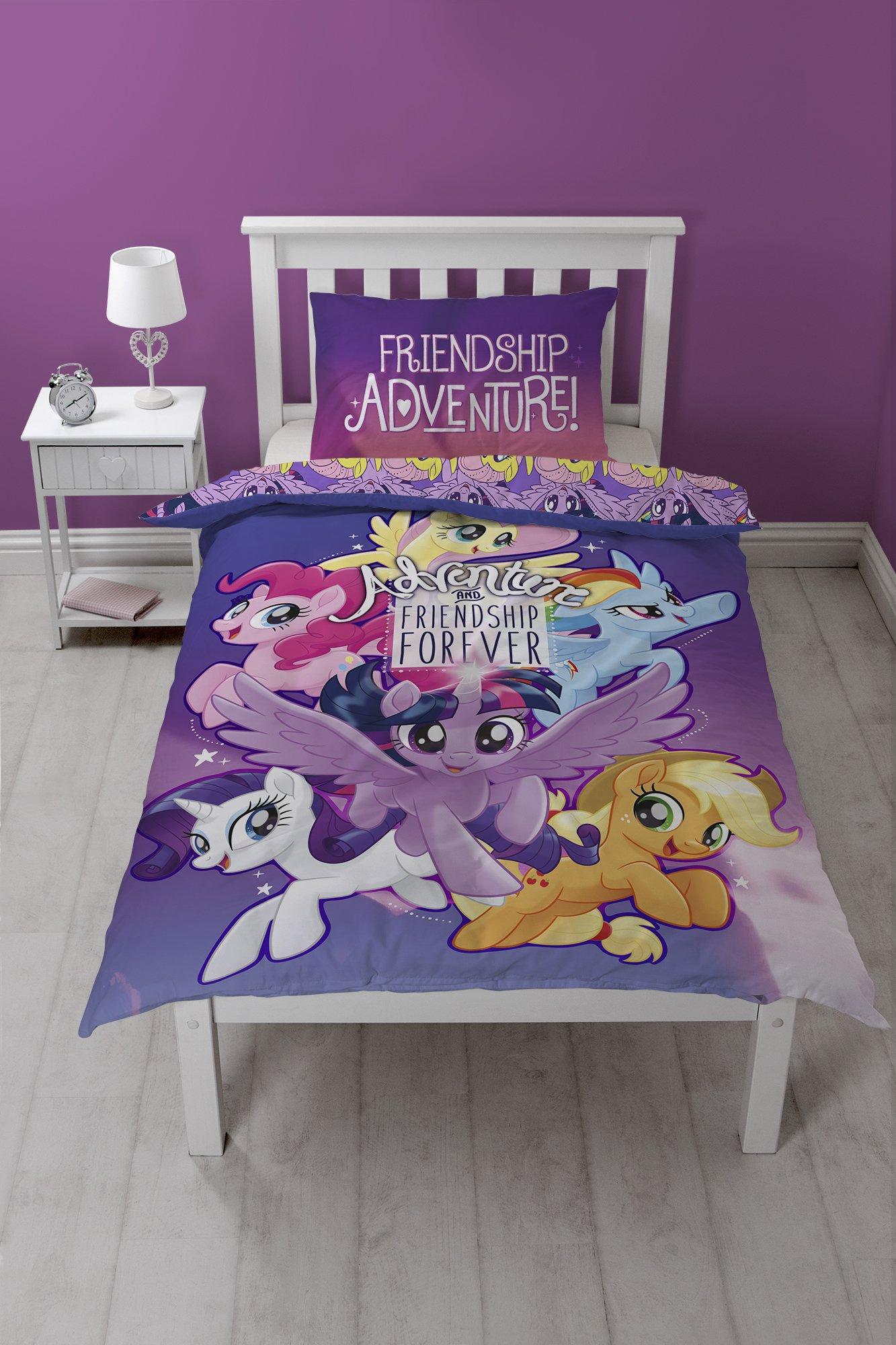 My Little Pony Movie Adventure and Friendship Forever Reversible Single Duvet Cover Set