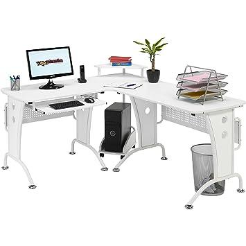 Genuine Piranha Unicorn Large Corner Computer Desk with Raised