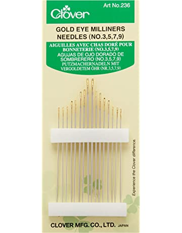 Clover Gold Eye Milliners Needles-Size 3/9 16/Pkg