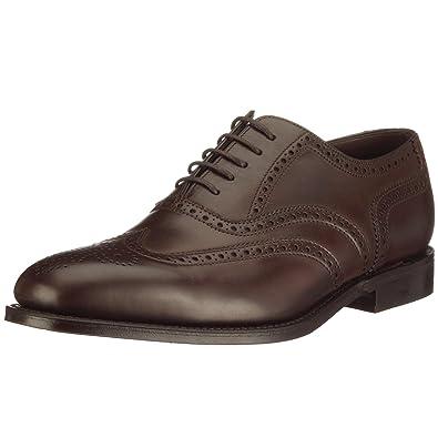 4befabca07cb Amazon.com   Loake Men's Calf Leather Buckingham Brogues Dark Brown    Oxfords