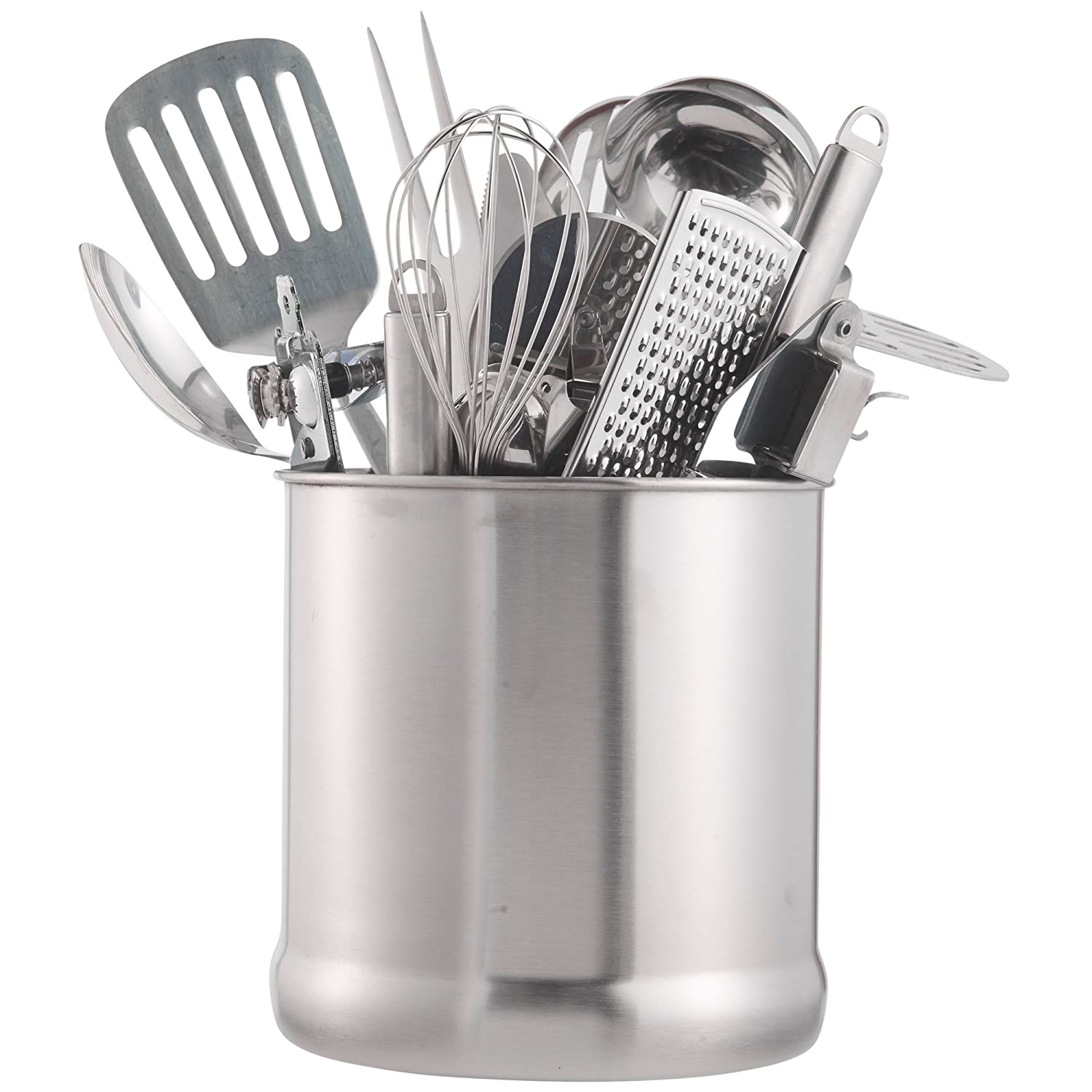 Amazon.com   VonShef Stainless Steel Utensil Holder Large Capacity  Organizer Caddy, Great For Keeping Your Kitchen Tidy, 7 Inches High