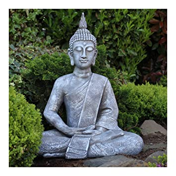 Amazon.de: Dszapaci Buddha Statue Groß 65cm Sitzend Deko Figur Für ...