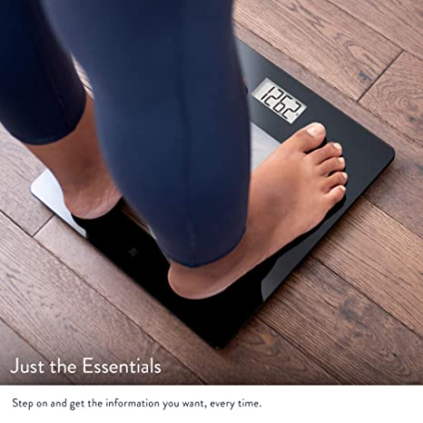 Amazon.com: Bathroom Scale by Greater Goods, Digital Body Weight Glass Top Scale, Measures Lbs & KGs: Health & Personal Care