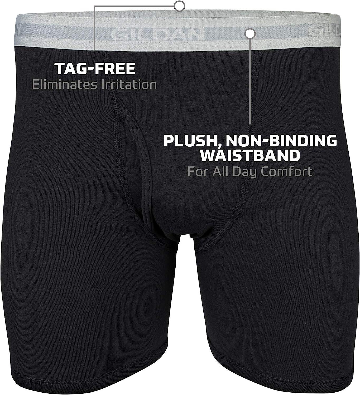 GILDAN Mens Regular Leg Boxer Brief Multipack Boxer Briefs