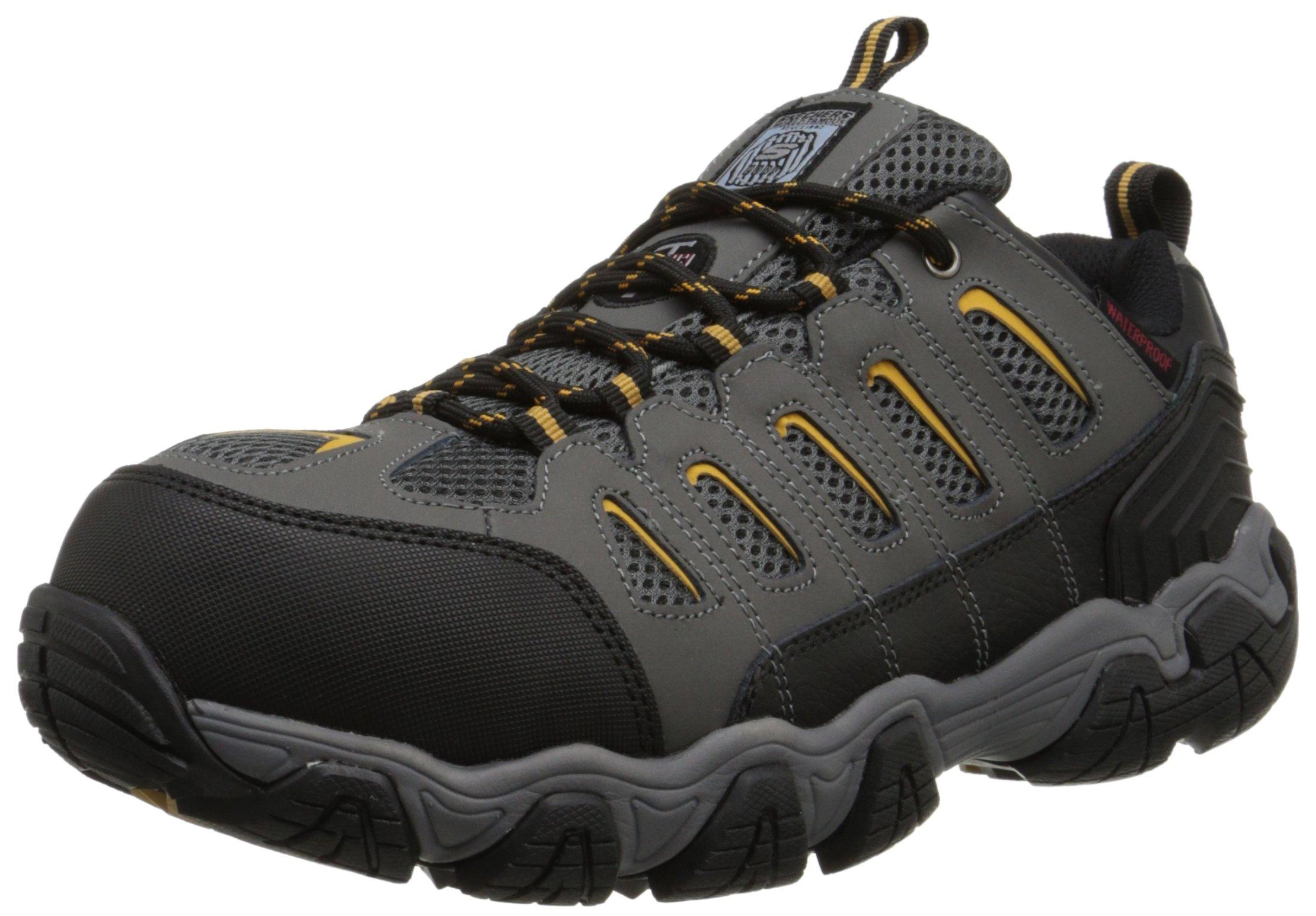 Skechers for Work Men's Blais Hiking Shoe, Dark Gray, 9.5 M US by Skechers