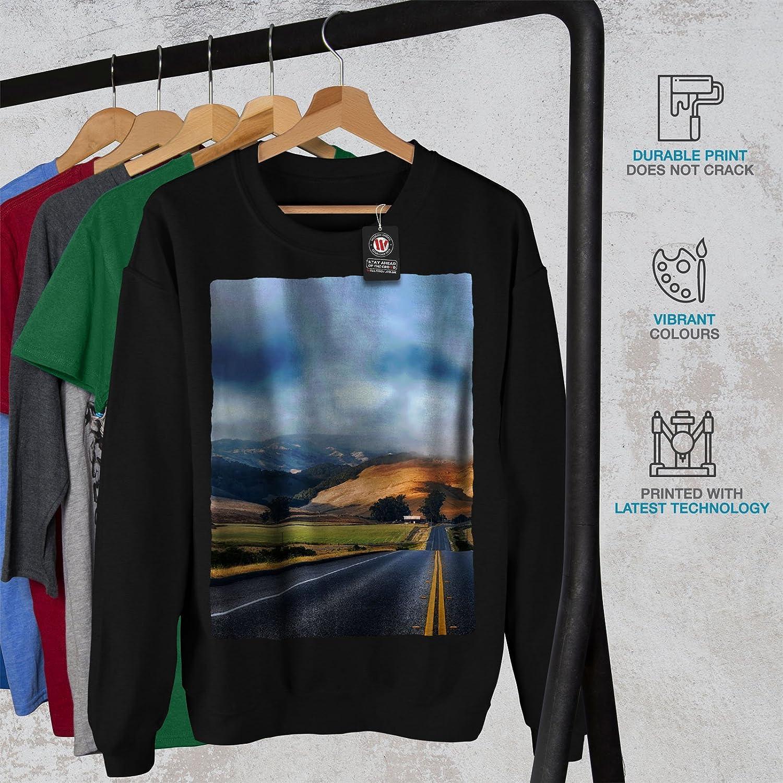 wellcoda Hill Wild Highway Mens Sweatshirt Village Casual Jumper