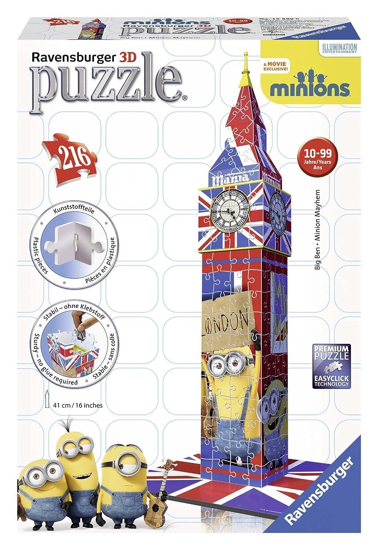 Ravensburger Minions Big Ben, 216pc 3D Jigsaw Puzzle® 125890