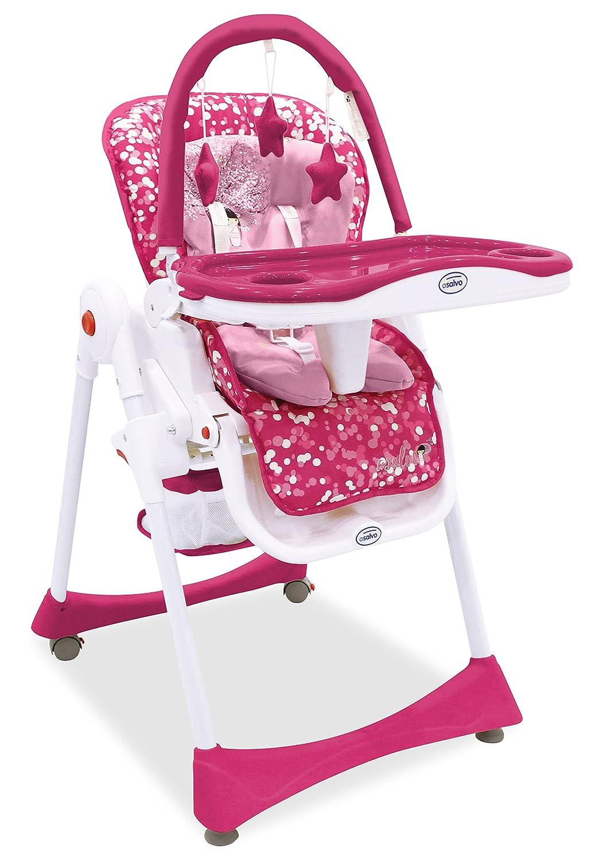 Asalvo Elegant - Trona 3 en 1 plegable para bebés, diseño diente de león, color gris