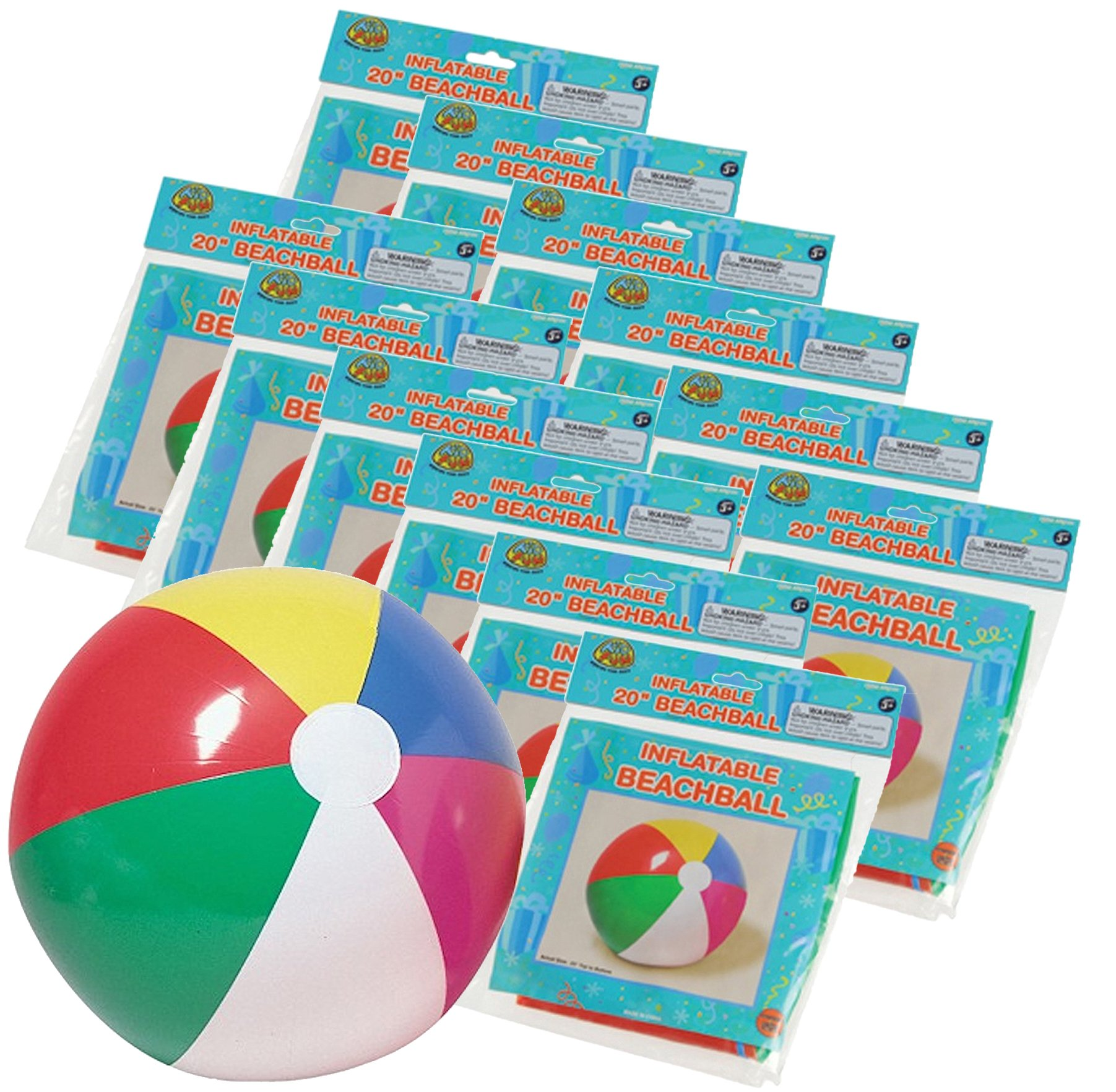 2 DZBeach Ball Inflates 13 Inches- 24 PACK by U.S. Toy