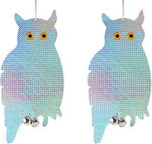 Bird Blinder Reflective Hanging Owl - Repellent Control (2 Pack)