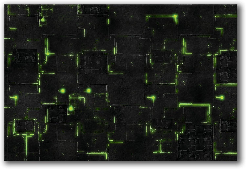 FLG Mat Frontline Gaming Robot City Green 6x4 Neoprene Wargaming Mat
