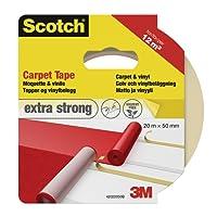 Scotch 42022050 Teppichklebeband, 50 mm x 20 m, weiß