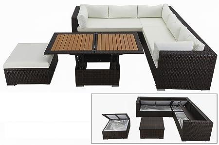 OUTFLEXX - Mueble de Mimbre para 6 Personas con Mesa de salón ...