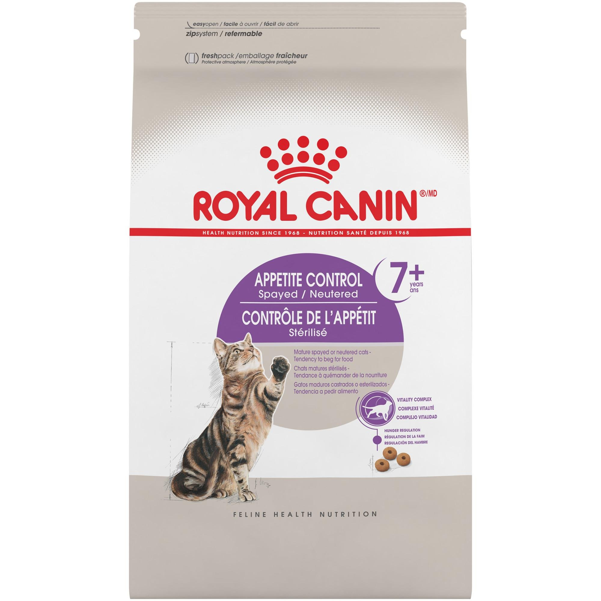 Royal Canin FELINE HEALTH NUTRITION Appetite Control 7+ Spayed Neutered dry adult cat food, 6lb
