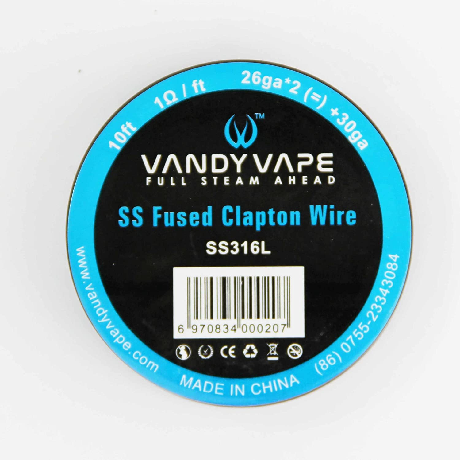 Clapton Fused Wire Ss316l 26awg X 2 30awg By Vandy Vape 3 Metre Wiring A Bathroom Pullcord Light Switch Diy Forums Spool Kitchen Home