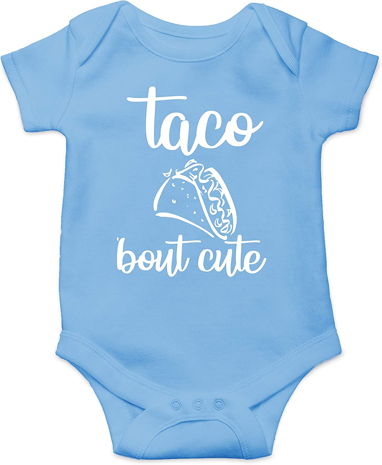 Taco Bout Cute - Mexican Food Lover - Funny Cute Infant Creeper, One-Piece Baby Bodysuit