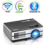 9bed3b05cd8 Portable Wireless LED Video Projector for iPad iPhone Mac Tablet  Smartphone, 1500…