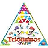 Triominos Goliath 60613 Color, ausgetüfteltes Domino-Spiel mit dreieckigen Steinen, spannendes Legespiel für Kinder, Farbige Spielsteine für langanhaltenden Spiele-Spa, ab 4 Jahren