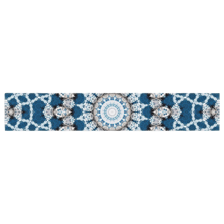 16 x 180 KESS InHouse Iris Lehnhardt Mandala II Blue Abstract Table Runner