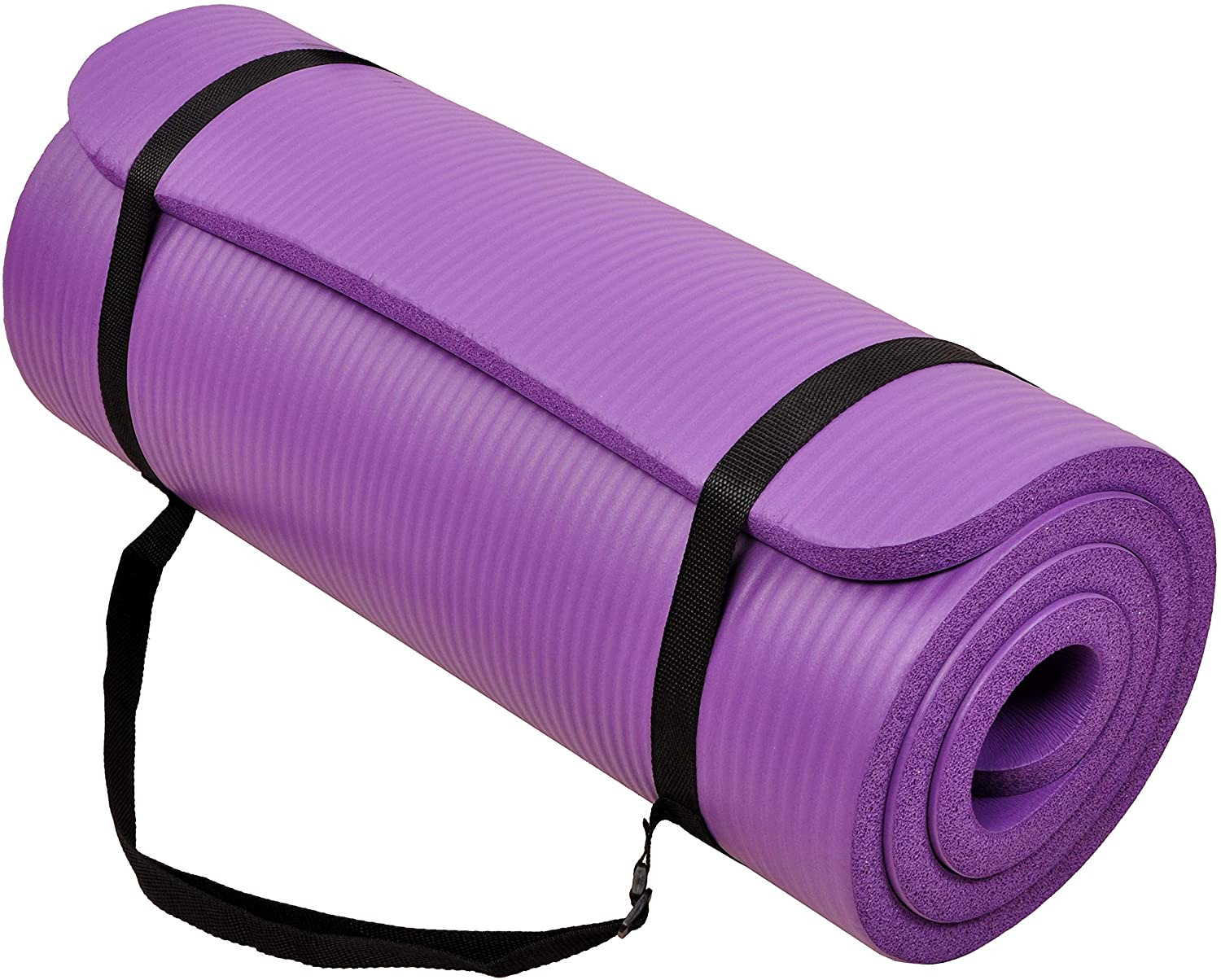 BalanceFrom GoCloud All-Purpose 1-Inch Extra Thick High Density Anti-Tear Exercise Yoga Mat with Carrying Strap