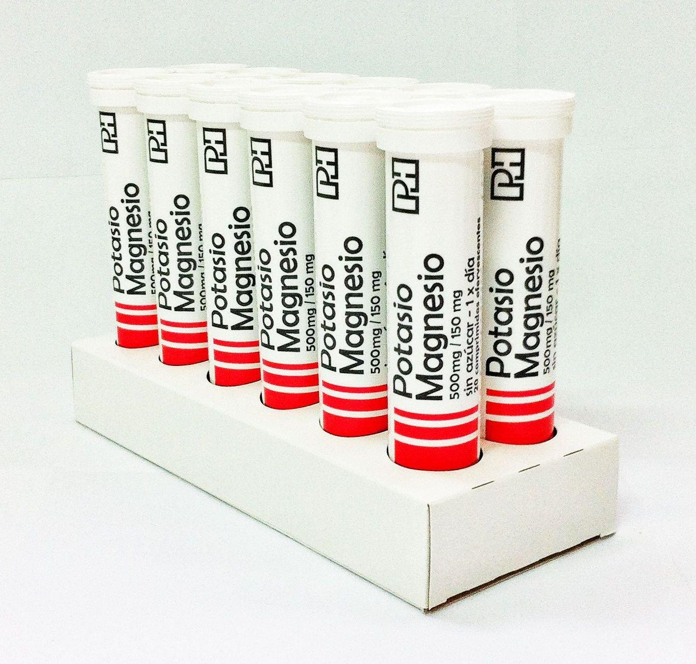 Pack POTASIO MAGNESIO PH 500 mg/150 mg. 12 Tubos de 20 comprimidos efervescentes. OFERTA 10+2 Gratis: Amazon.es: Salud y cuidado personal