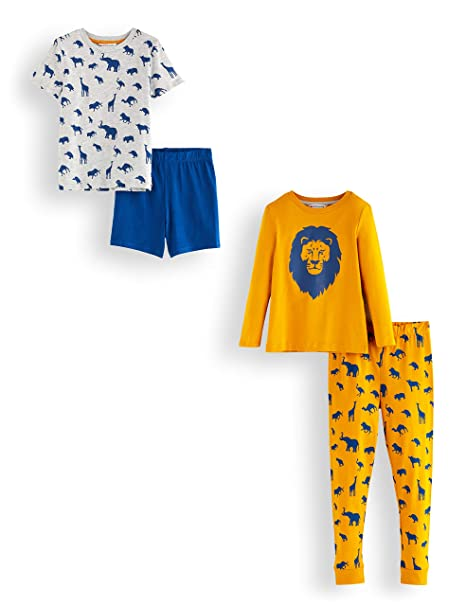 new list available new high Amazon Brand - RED WAGON Boy's Cotton Pyjama Set, Pack of 2