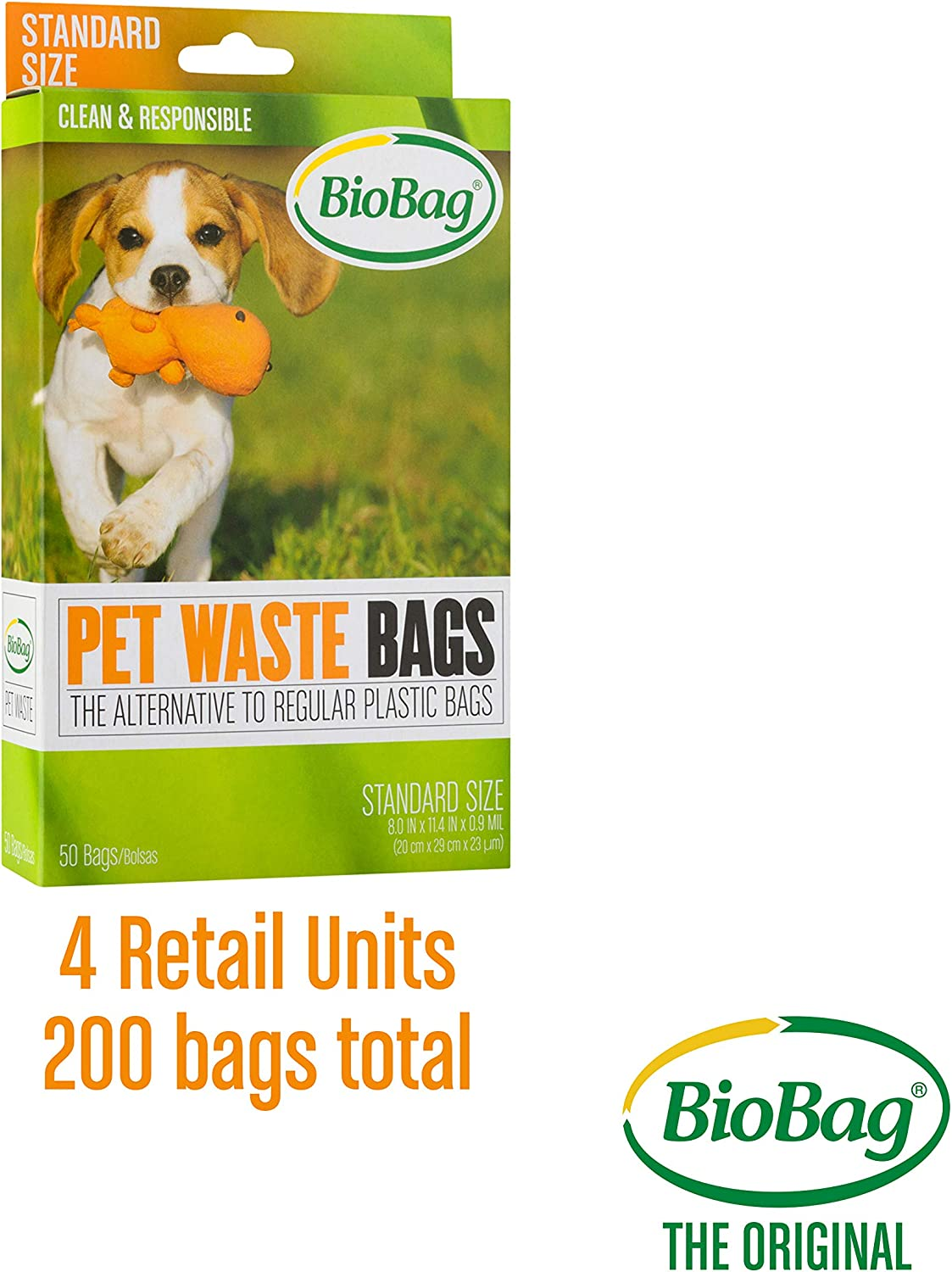 Bio Bag Premium Pet Waste Bags, 13.5'' x 11.5''