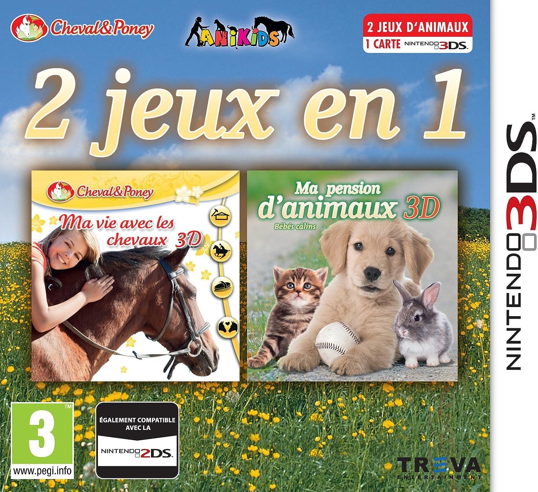 2 jeux en 1: Ma vie avec les chevaux + Ma Pension D'Animaux 3D ...