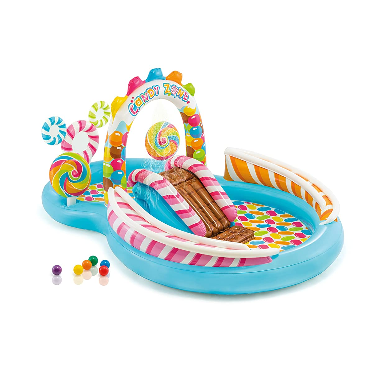 """Intex Candy Zone Inflatable Play Center, 116"""" X 75"""" X 51"""", for Ages 2+"""