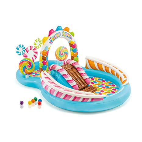 """Intex Candy Zone Inflatable Play Center, 116"""" X 75"""" X 51"""", For Ages 2+ by Intex"""
