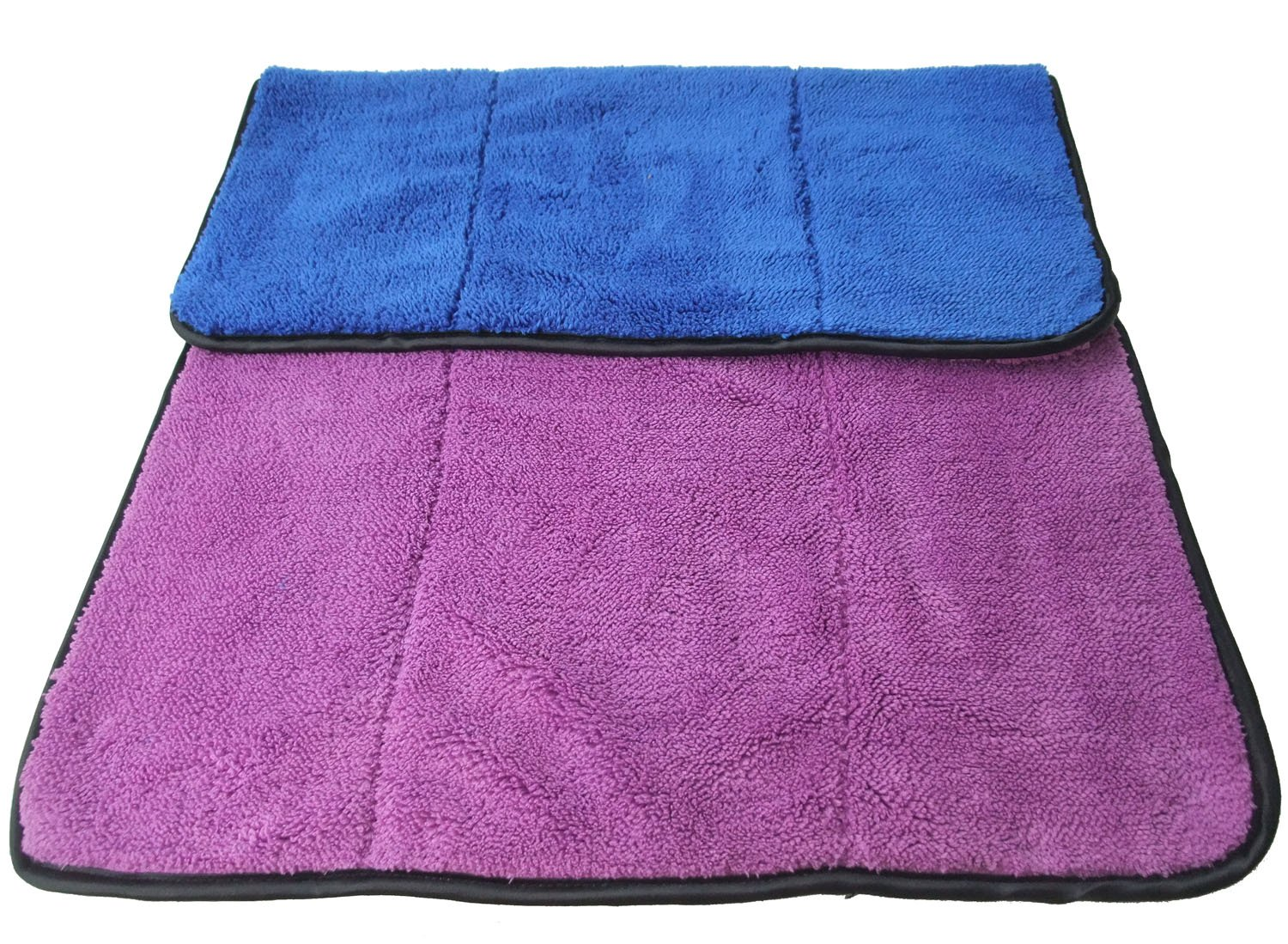 16x24, Blue//green Microfiber Car Cleaning Towels Ultra Thick Car Wax Buffing Cloths Super Absorbent Drying Auto Detailing Towel